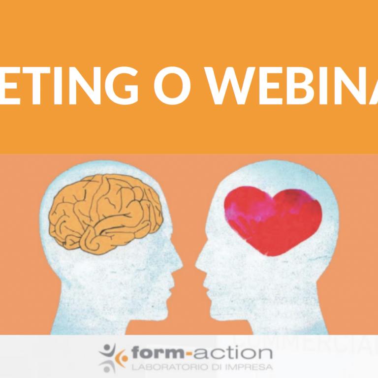 Meeting o Webinar: quale conviene usare in azienda?